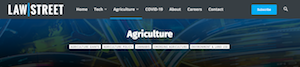 Fastcase Law Street Media: News With a Flash of Dockets – Launches Agriculture Channel