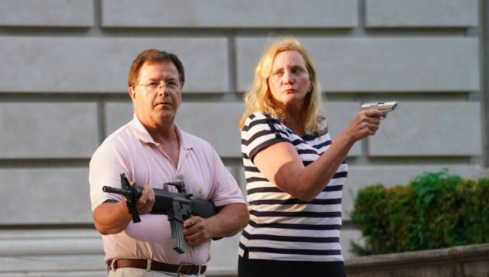 So.. The Nutters With Guns In St Louis Threatening Protesters Are A Lawyer Couple