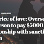 The price of love: Overseas US person to pay $5000 for relationship with sanctioned person