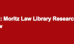 Position Moritz Law Library Research Assistant, Election Law