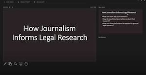 What Legal Research Can Learn from Journalism with Law Street Media