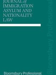 UK: Deputy editor sought for Journal of Immigration, Asylum and Nationality Law