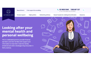 Victorian Bar launches online health and wellbeing portal