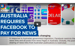 Possible implications of Australia's law requiring Facebook to pay news outlets
