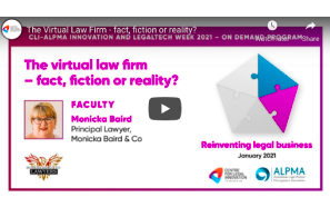 The Virtual Law Firm – fact, fiction or reality?