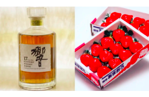 Japan battles Chinese and Korean strawberry and whisky copyca
