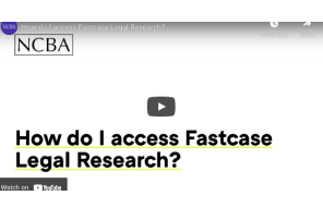 North Carolina Bar Association (2021) How do I access Fastcase Legal Research?