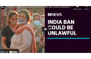 "Australia: ""There are very serious questions here"": India ban could be unlawful, law professor says 