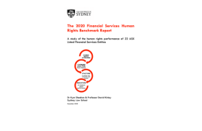 Report – Uni Sydney: The 2020 financial services human rights benchmark report