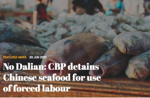 No Dalian: CBP detains Chinese seafood for use of forced labour