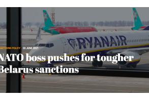 NATO boss pushes for tougher Belarus sanctions