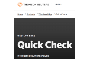 New Westlaw Feature Flags Weaknesses In Opponent's Cases and Arguments