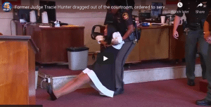 You Tube Classic - Former Judge Tracie Hunter dragged out of the courtroom, ordered to serve six months in jail