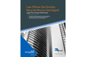 Free White Paper - Above The Law: Law Offices Get Smaller, Records Rooms Get Digital
