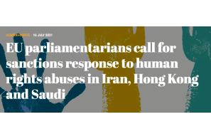 EU parliamentarians call for sanctions response to human rights abuses in Iran, Hong Kong and Saudi