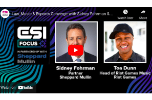 VIDEO: Law, music, and esports with Riot Games Music's Toa Dunn | ESI Focus