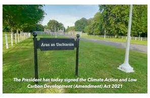 Ireland:  Landmark climate legislation signed into law