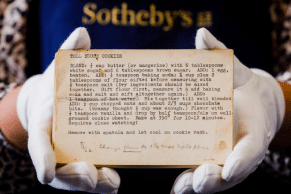 Auction – Sold: Sylvia Plath's Rolling Pin and Recipes
