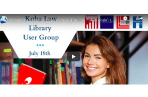 """July 23 2021: Virtual Koha Law Library Users Group: """"Trust the Professionals""""- Implementing Koha with ByWater"""