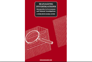 New Book:  Managing Investigations - Best practice in Government and Internal Investigations