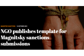 NGO publishes template for Magnitsky sanctions submissions