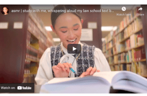 asmr | study with me, whispering aloud my law school text book, real time legal case reading