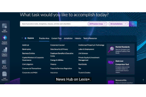 Lexis Adds Law 360 News To Homepage - Although we doubt the story to the right of this one will get a mention !